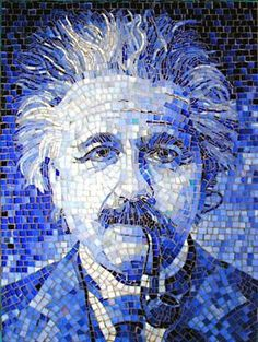 Einstein in Blue  He was a quite brilliant and now he's brilliantly blue forever.