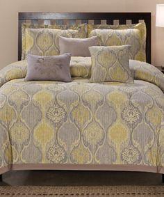Look at this #zulilyfind! Yellow & Blue Venetian Comforter Set by  #zulilyfinds