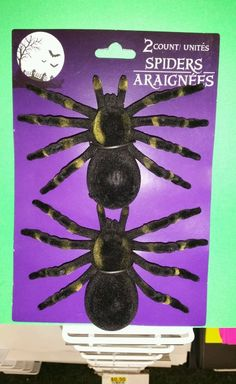 Halloween Spider Black Spiders Set of 2  Please RePinit, Retweet and Share on FB.  Thanks and have a GREAT Week Ahead.