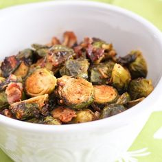 Smokey bacon meets nutty and sweet Brussels Sprouts: a tender and crispy combo that feels just like heaven in a bowl!