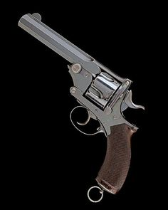 """qsy-complains-a-lot: """" Pryse-type manstopper revolver Manufactured by A. Henry in Edinburgh, Scotland - serial number Boxer cylinder, double action, top break action. Introduced in the Boxer cartridge used a solid lead. Webley Revolver, Revolver Pistol, Los Primates, Single Action Revolvers, Lever Action, Fire Powers, Home Defense, Cool Guns, Guns And Ammo"""