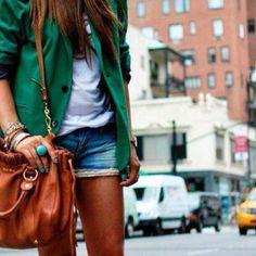 Blazer and jean shorts <3