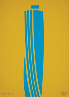 Adidas City Series (Europe) Poster Project by Marcus Reed, via Behance