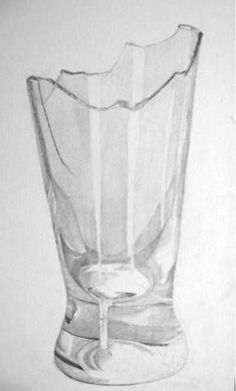 How to draw realistic broken glass.