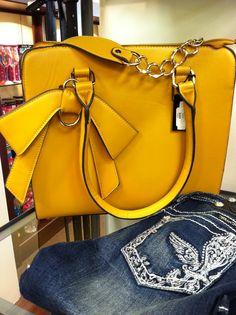 Marigold Bow Handbag, $75