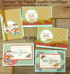 Stampin' UP! Fall Cards with Petals & Paisleys