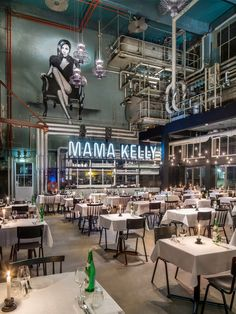 Aydınlatma ve Dekor Dünyasından Gelişmeler: De Horeca Fabriek'den Lahey'de MaMa Kelly Urban Bistro Restaurant #aydinlatma #lighting #design #tasarim #dekor #decor
