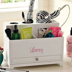 I absolutely love this for organizing hair appliances and products! #PBDORM