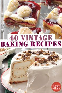 40 Vintage Baking Recipes 40 Vintage Baking Recipes,Cake & Co. 40 Vintage Baking Recipes Related posts:Red Velvet Cake Mix Cookies - DessertsStrawberry Delight No Bake Dessert - DessertsClassic New York Cheesecake - DessertsApple Pie. Retro Recipes, Vintage Recipes, Cheap Recipes, Fast Recipes, Healthy Recipes, Food Cakes, Easy Desserts, Delicious Desserts, Tasty Recipes For Dessert