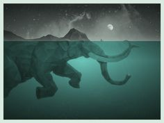 Swiming elephant