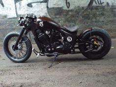 Bobber Inspiration - Honda VT600 Shadow bobber custom Voodoo custom...   Bobbers and Custom Motorcycles October 2015
