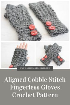 This crochet stitch fingerless gloves are functionally comfortable. The aligned cobble stitch pattern adds a layer of warmth on those cold winter days. Crochet Fingerless Gloves Free Pattern, Crochet Mitts, Crochet Shell Stitch, Fingerless Gloves Knitted, Crochet Stitches, Free Crochet, Crochet Patterns, Crochet Hand Warmers, Popular Crochet