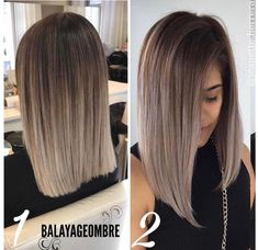 - 20 Balayage Ombre Kurzes Haar – Sofie, Kurzhaarfrisuren up - Ombre Hair Color, Hair Color Balayage, Baylage Ombre, Ashy Brown Hair Balayage, Balayage Highlights, Balayage Ombré, Short Balayage, Haircut Styles, Thick Hair