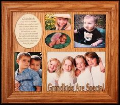 $39.99-$44.99 Baby GRANDKIDS ARE SPECIAL ~ Photo & Poetry COLLAGE Frame ~ Wonderful Gift for a GRANDMA, GRANDPA or GRANDPARENTS! - Wonderful Grandma, Grandpa or GRANDPARENTS Keepsake Frame from the Grandkids!    Laser Cut Text: Grandkids Are Special    Holds One 5x7 landscape photo, 2 wallet photos and two 4x6 cropped photos. Poem is removable should you want to put another photo in its place.    Gran ...