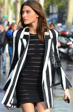 Gianluca Senese Paris Fashion Week. Chic street style: Balmain.