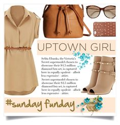 """Uptown Girl: #sundayfunday"" by captainsilly ❤ liked on Polyvore featuring…"