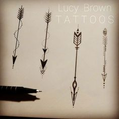Lucy Brown's Viking Arrow Tattoos:                                                                                                                                                                                 More