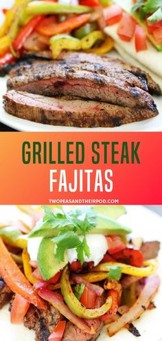 Get out the grill and make steak fajitas with sizzling peppers and onions! Learn what we think the best steak for fajitas is, and how to marinate and season to perfection! Serve with flour tortillas and your favorite toppings! Easy Steak Fajitas, Steak Fajita Recipe, Grilling Recipes, Beef Recipes, Cooking Recipes, Family Recipes, Steaks, Mexican Food Recipes, Dinner Recipes