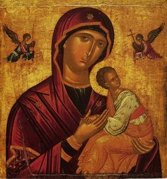 Our Lady of Perpetual Help by Andreas Ritzos's school (15th c., Pushkin museum) - Category:Andreas Ritzos - Wikimedia Commons
