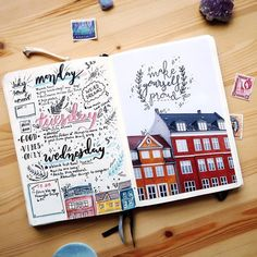 Find images and videos about bujo and journaling on We Heart It - the app to get lost in what you love. Dotted Bullet Journal, Bullet Journal Layout, Bullet Journal Inspiration, Bullet Journals, Weekly Log, Cute Scrapbooks, Watercolor Journal, Watercolor Art, Journal Pages