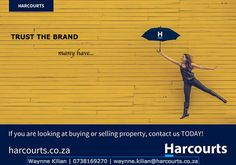 Trust the Harcourts Brand. Cape Town South Africa, Trust, Investing, Poster, Billboard