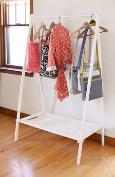 DIY Garment Rack - Noodlehead, designed by Anna Graham