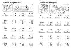 Cálculos: Subtração com reserva