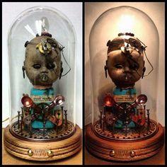 Weird Baby Doll Head Lamp