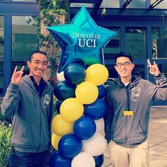 Discover UCI welcomes new Anteaters to campus! Lots of smiling Anteaters are here to help, like Campus Reps Tony Guan and Abraham Kou. Zot on!  UC Irvine