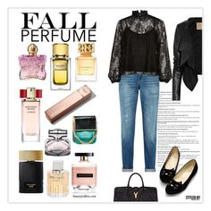 """""""What's Your Fall Fragrance?"""" by marion-fashionista-diva-miller ❤ liked on Polyvore featuring beauty, rag & bone, Yves Saint Laurent, River Island, Max Azria and fallscent"""