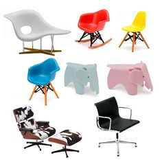 Mini Designer Chairs - these are so cute, perfect for a doll house!!