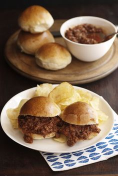 Slider Sloppy Joes that sound OH SO delicious and easy to make! My kind of quick dinner!