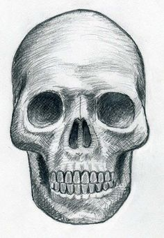 Draw Skulls Can Be This Easy...step-by-step,how to draw a skull...good to know for Day of the Dead rock painting!