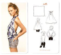 Nine ways to tie a scarf, by Hermès #8 DIY