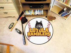 "Loyola University Chicago Baseball Mat 27"""" diameter"