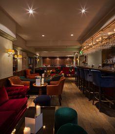 #MadebyHowe bespoke Hertford bar stools at London's Groucho Club