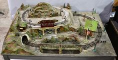 LIONEL PREWAR #177 SCENIC RAILWAY STORE DISPLAY Train Layouts, Classic Toys, Model Trains, Villa, Fair Grounds, Display, Store, Floor Space, Billboard