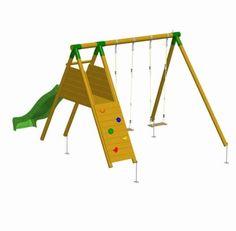 COLUMPIO DE MADERA PARQUE INFANTIL MAUNA LOA RAMPA. MA700021, IndalChess.com Tienda de juguetes online y juegos de jardin