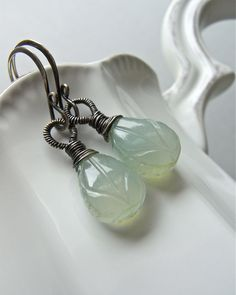 Earrings sterling silver wire wrapped by realisationcreations