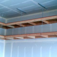 Garage Overhead Mightyshelves Alternative Hardware Methods
