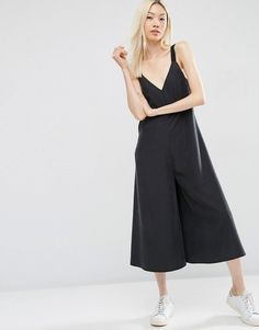 Image 1 of ASOS Oversized Minimal Jumpsuit with Culotte Leg