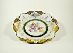 Vintage Porcelain Dish Floral Pattern Dish by DKVINTAGEGALLERY