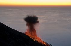 Volcano at Sunset by marcovirg, via Flickr