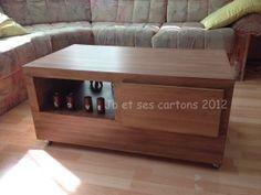 Tuto Meuble en carton - Table Basse Imitation Bois