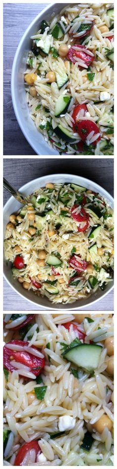 Orzo Pasta Salad--healthy and perfect for a party or picnic.