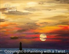 **LOCAL FAVORITE** Lake Michigan Lighthouse - Ferndale, MI Painting Class - Painting with a Twist
