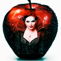 Evil Queen Regina in an awesome red apple art