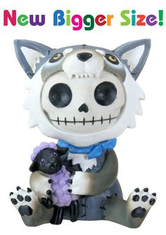 Wolfgang Wolf Furry Bones Skellies Medium Figurine [8372S] - $13.99 : Mystic Crypt, the most unique, hard to find items at ghoulishly great prices!