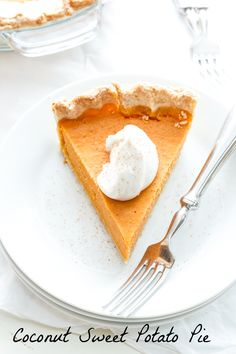Coconut-Sweet Potato Pie has us wondering if sweet potatoes are the new pumpkins this year... @BacktoHerRoots