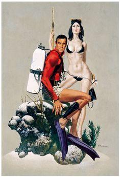 James Bond  Thunderball   Robert McGinnis Comic Art